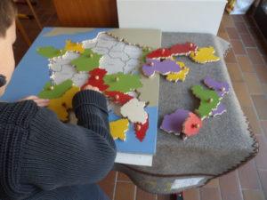 Travail sur les régions de France